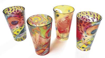 East Rosebud Fly Pilsner Glasses