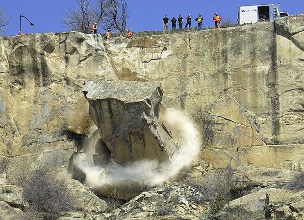 Second rock fall