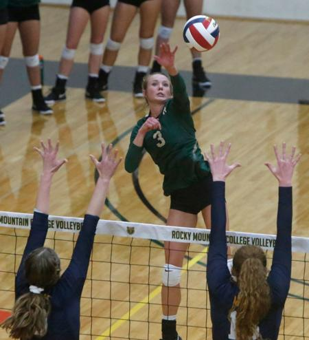 Athletic success follows Rocky Mountain College volleyball player Hailey Copinga - Please turn images on