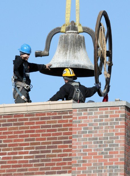 Garfield School bell taken down