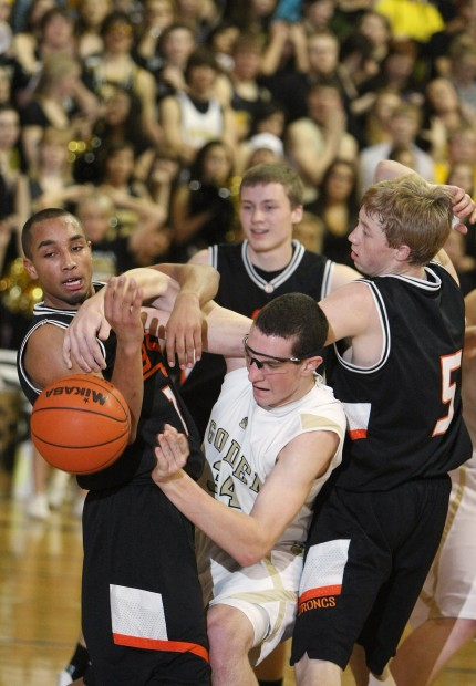 Danny Robison battles for a rebound