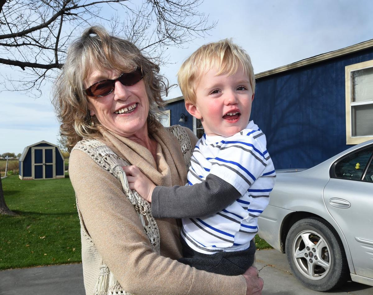 Lavonne Bermes and her grandson, Paxton