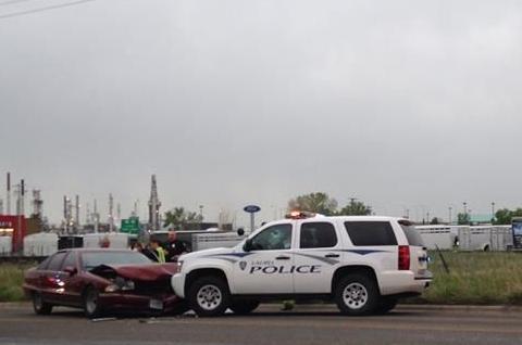 Cop crash