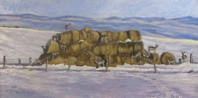 'The Fenced Stackyard' by Dana Zier