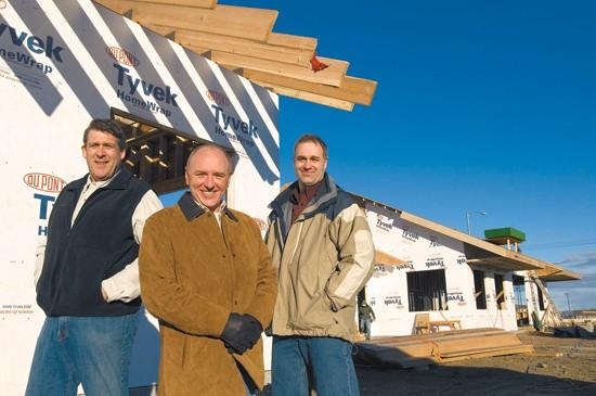 Young sons' friendship leads to partnership on office project