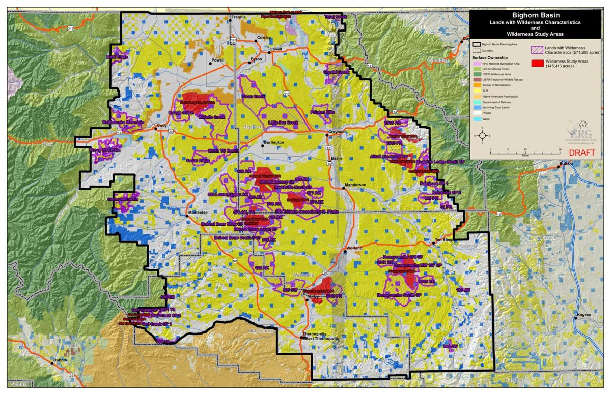 Bighorn Basin, Wyoming, map     billingsgazette com