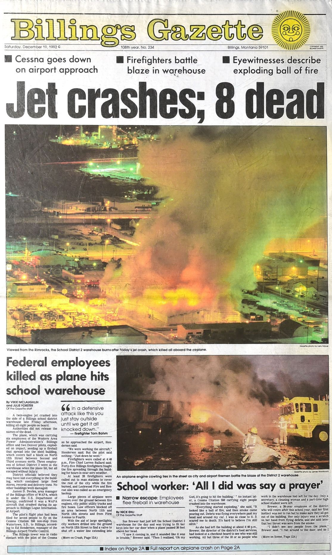 Crash front page