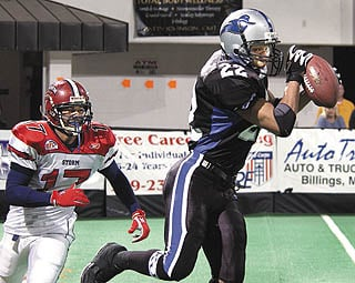 Few players have more mileage, or more fun, than Outlaws receiver James Owens