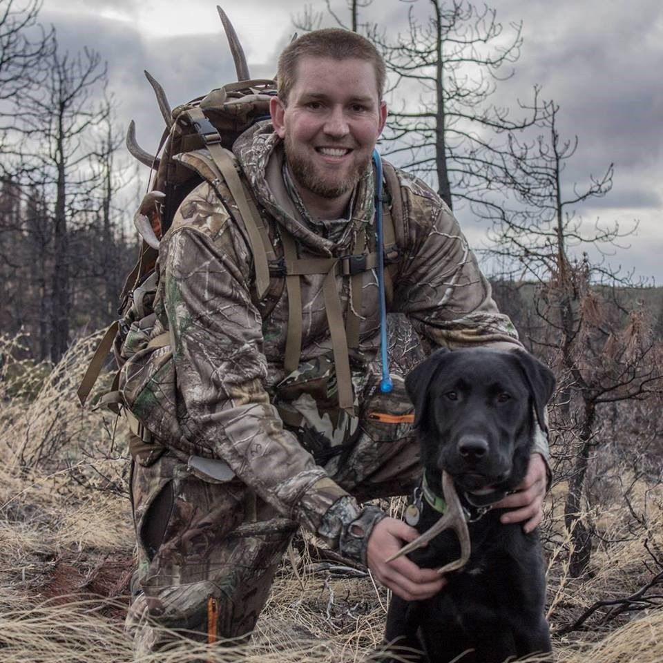 Kevin Farron and hunting dog