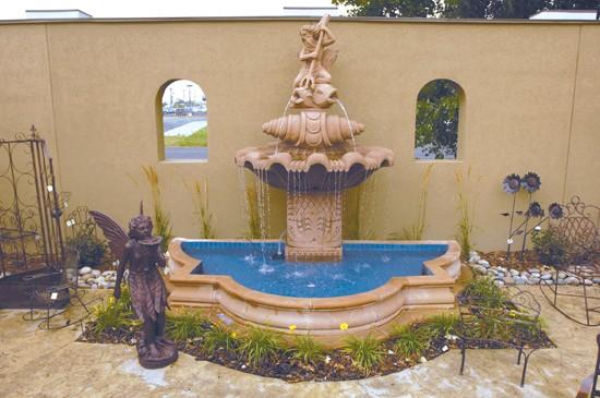 Peaceful Place: Outdoor fountains evoke tranquility