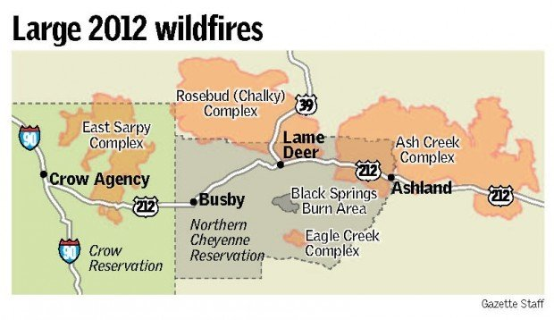 Crow Reservation Montana Map.Northern Cheyenne Planting Crews Can T Keep Up With Wildfires