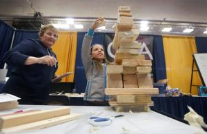 'You might find an architect or engineer': Female students get a close-up view of STEM careers at Girls-n-Science event