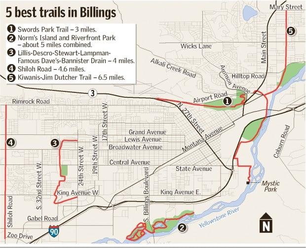 Bike trail map | | billingsgazette.com