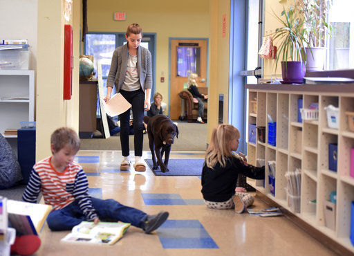 Schools utilize therapy dogs to enhance learning environment