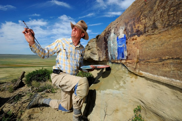 Petroglyph artist Kevin Sudeith