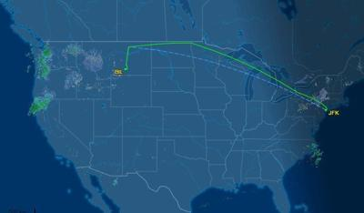 Delta flight path
