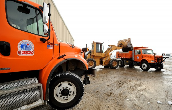 City of Billings sanding trucks