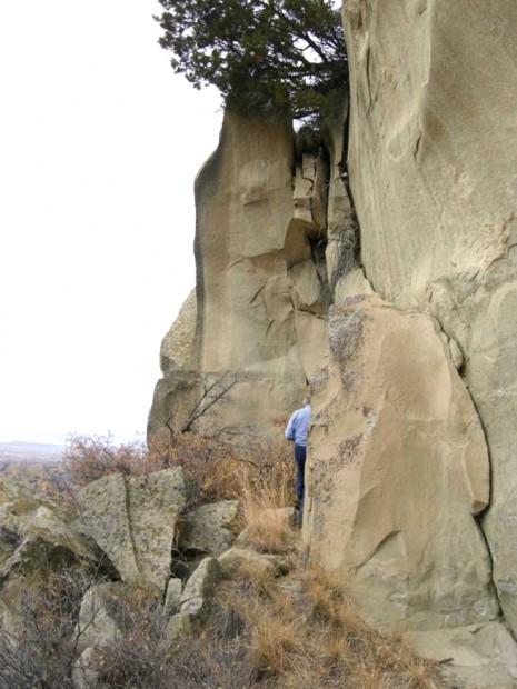 Rock above Granite Avenue