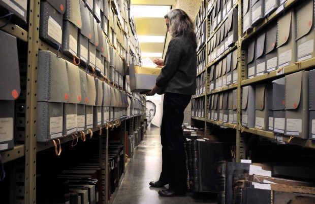 Donna McCrea, head of the Mansfield Library's Archives and Special Collections