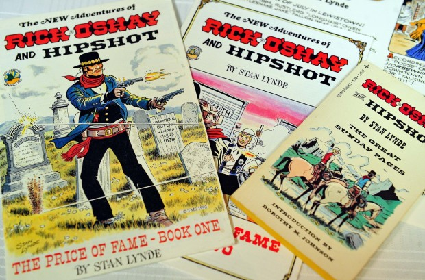 Rick O'Shay and Hipshot were popular Western comic strips