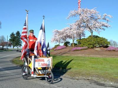 Chuck Lewis walks across America