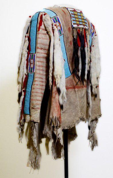 A beaded hide shirt