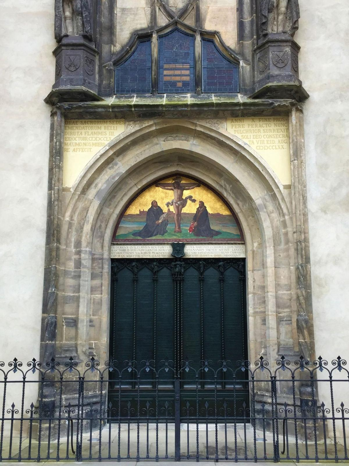 The doors of Castle Church in Wittenberg