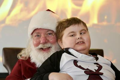 Jaycob with santa