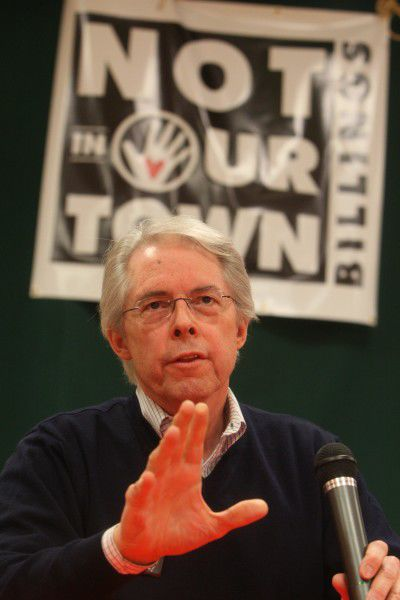 Chuck Tooley speaks to an audience in 2009