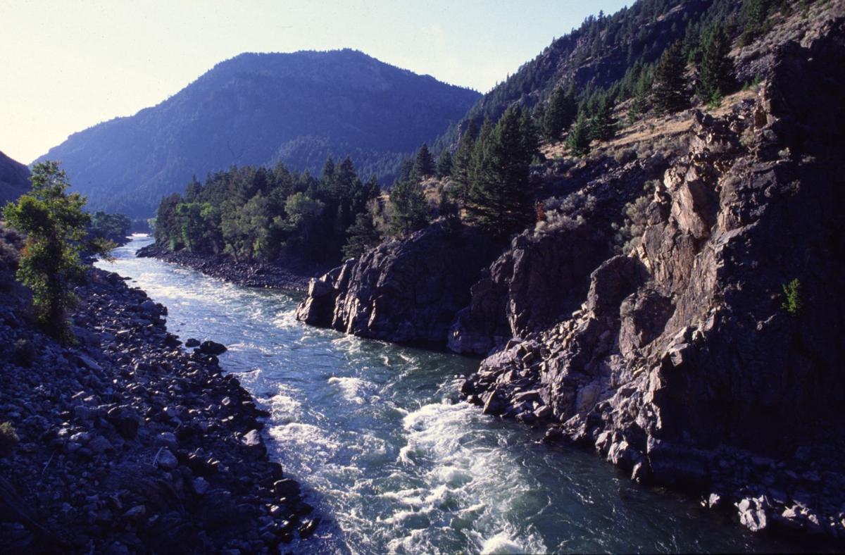 Yellowstone River winds through Yankee Jim Canyon