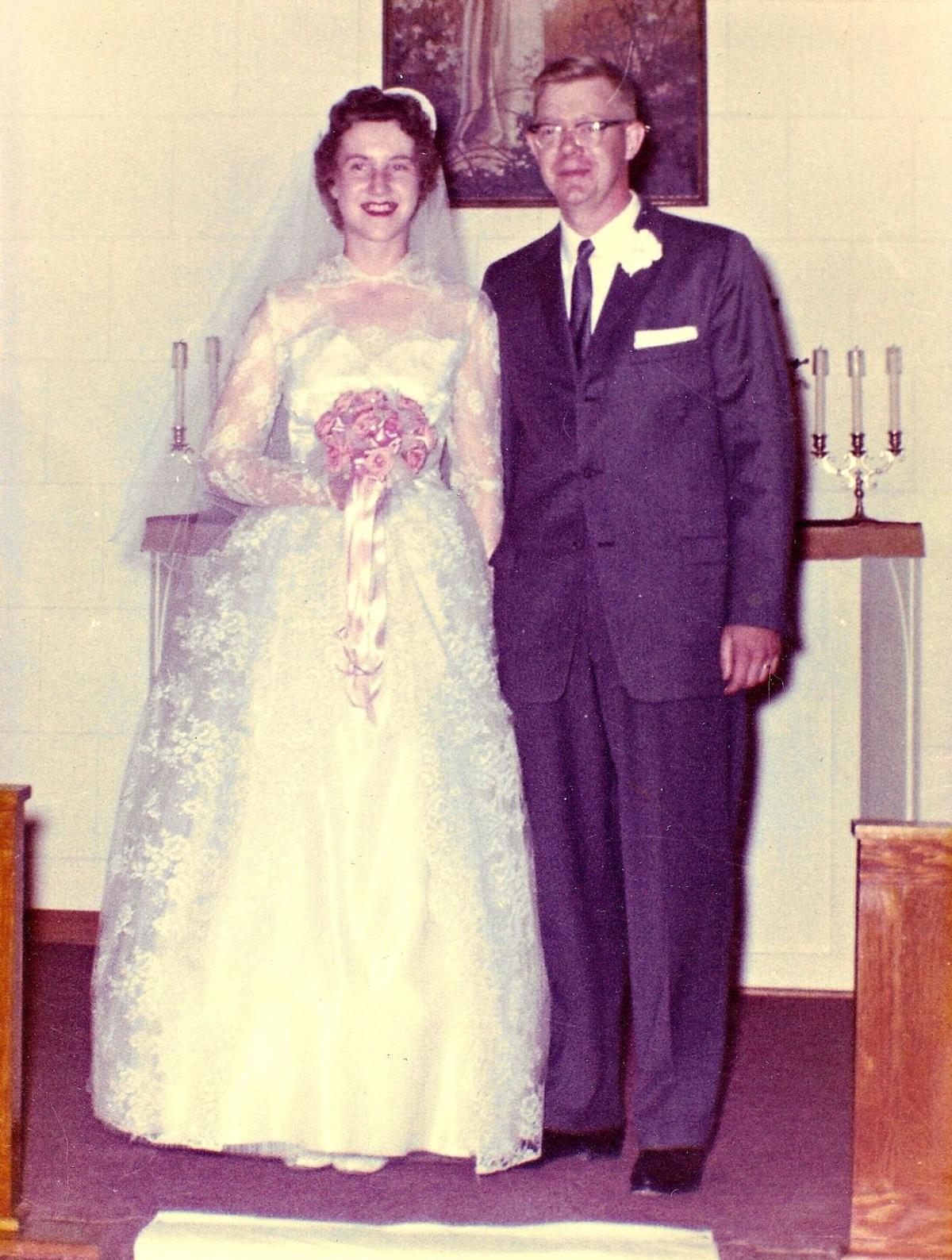Marlen and Lorraine Anderson on their wedding day in 1961