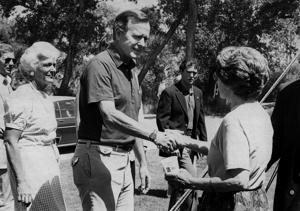 Photos from President George H.W. Bush's visits to Wyoming