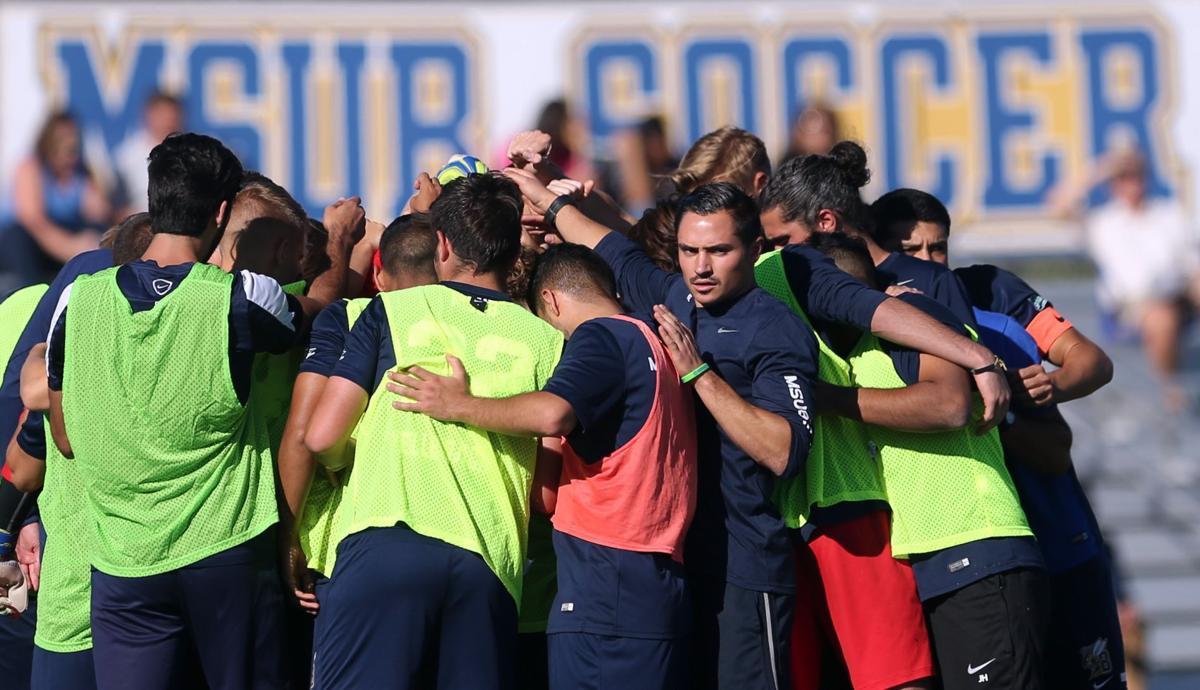 The MSUB men's soccer team
