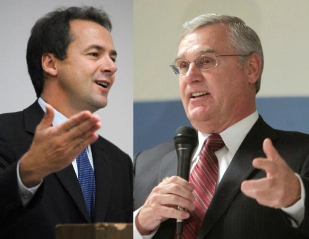 Democrat Steve Bullock and Republican Rick Hill