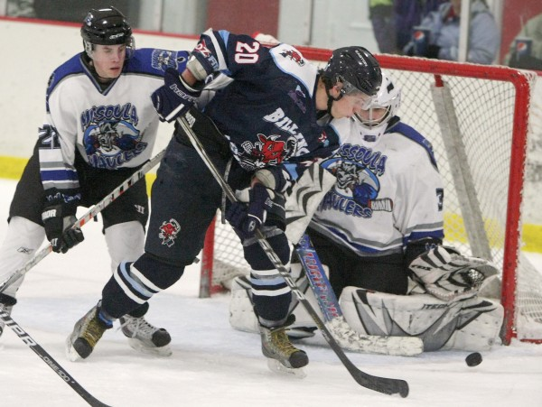 Oliver Wong of the Billings Bulls plays the net