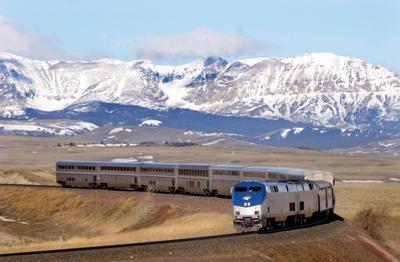 Amtrak Empire Builder east of Glacier