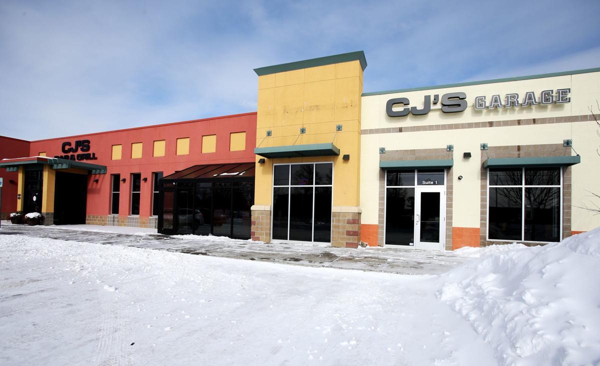 CJ's Garage in the snow