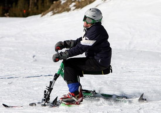 Inventor helps his wife to continue enjoying the slopes