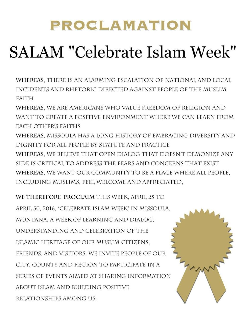 Isis Hijabs And Prayer Missoula Holding Week Of Islam Celebration