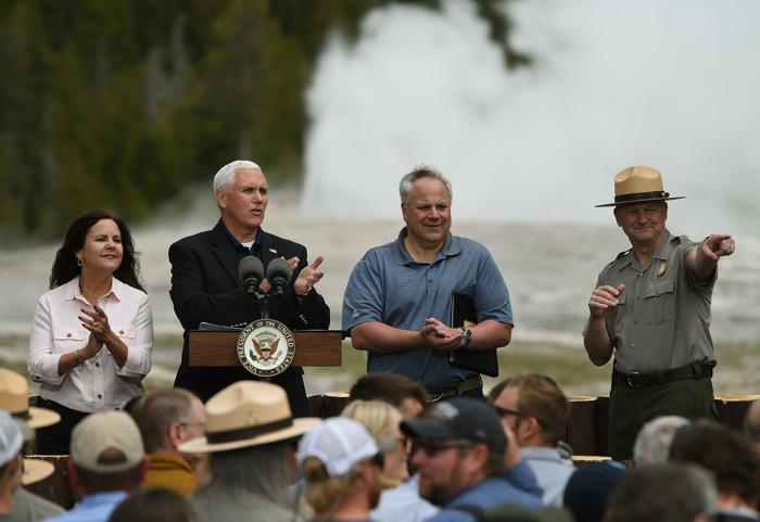 Vice President Mike Pence in Yellowstone outlines plans to pay for $13B maintenance backlog