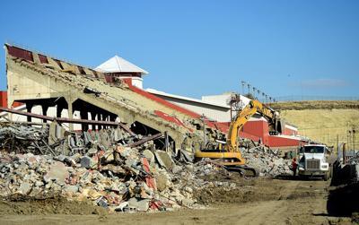Grandstand demolition