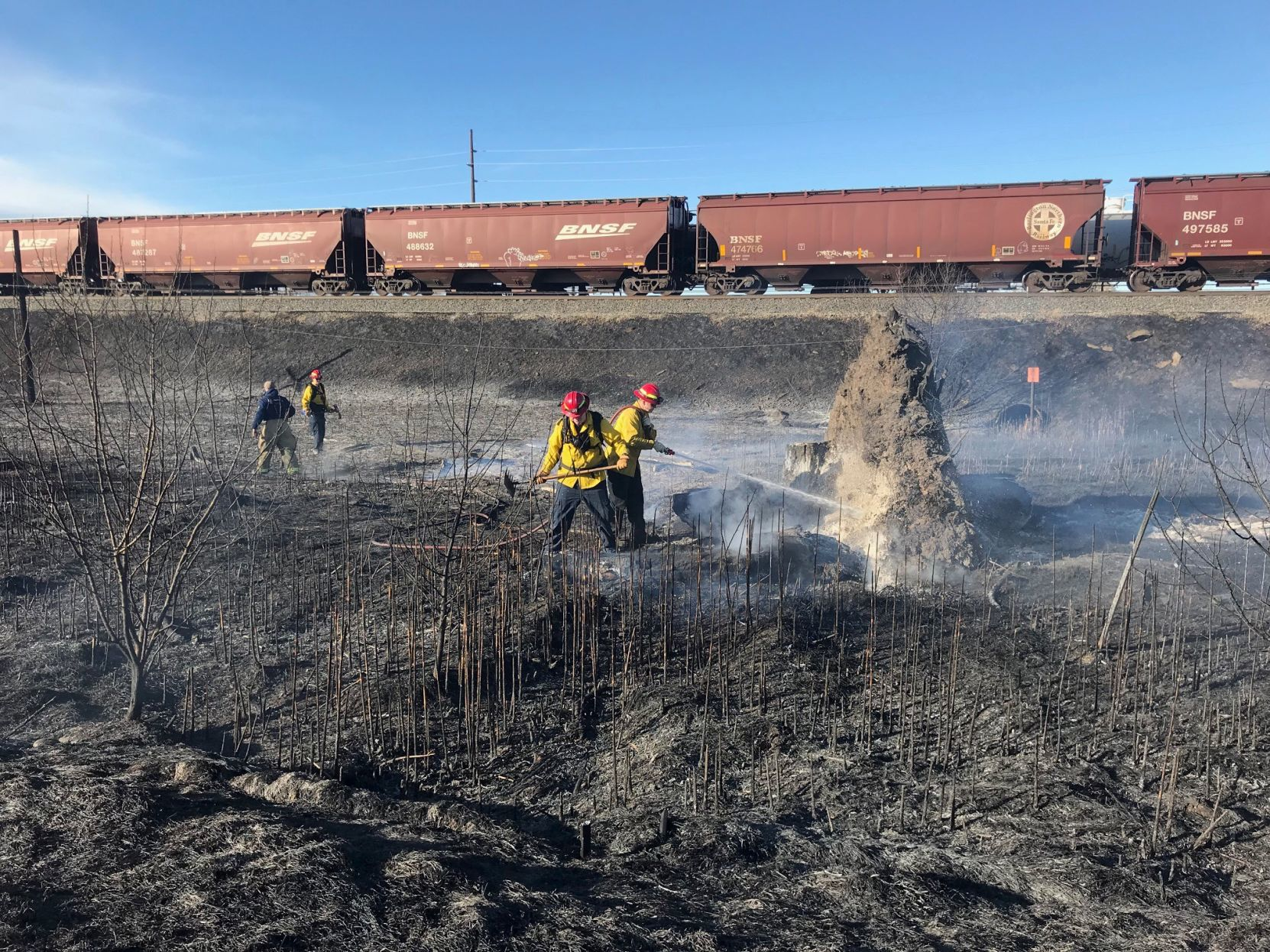 Lockwood firefighters extinguish grass fire Saturday afternoon | Billings Gazette