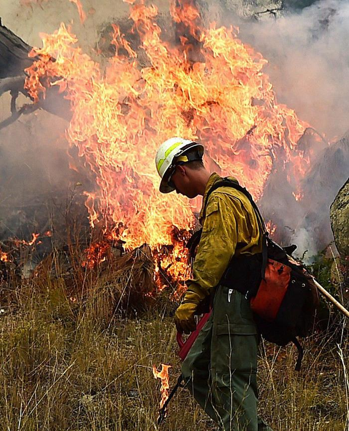 Photos: Controlled burn in the Bull Mountains