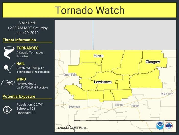 13 Montana counties under tornado watch