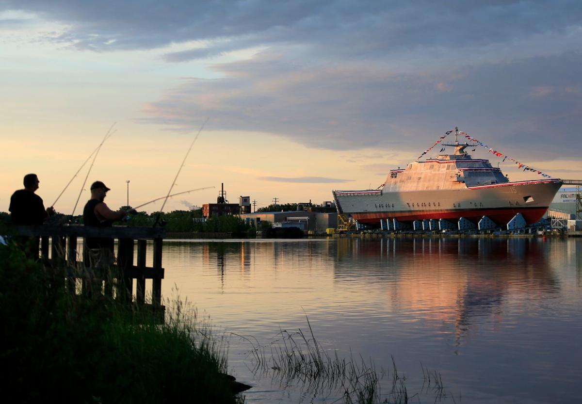 USS Billings at sunrise