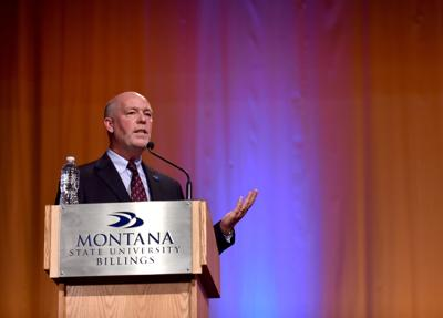 Greg Gianforte answers a question