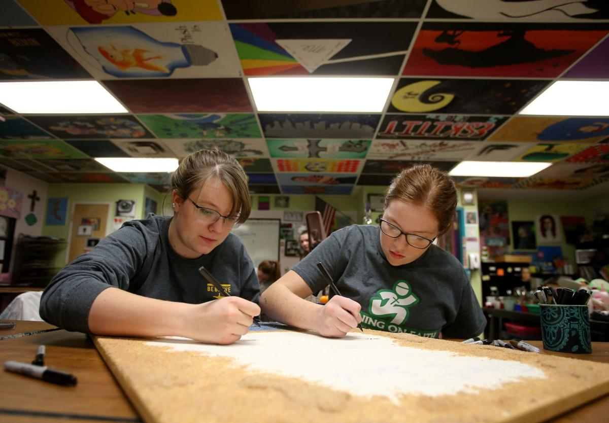 Central High students Sarah Pankratz and Ruth McCulloch
