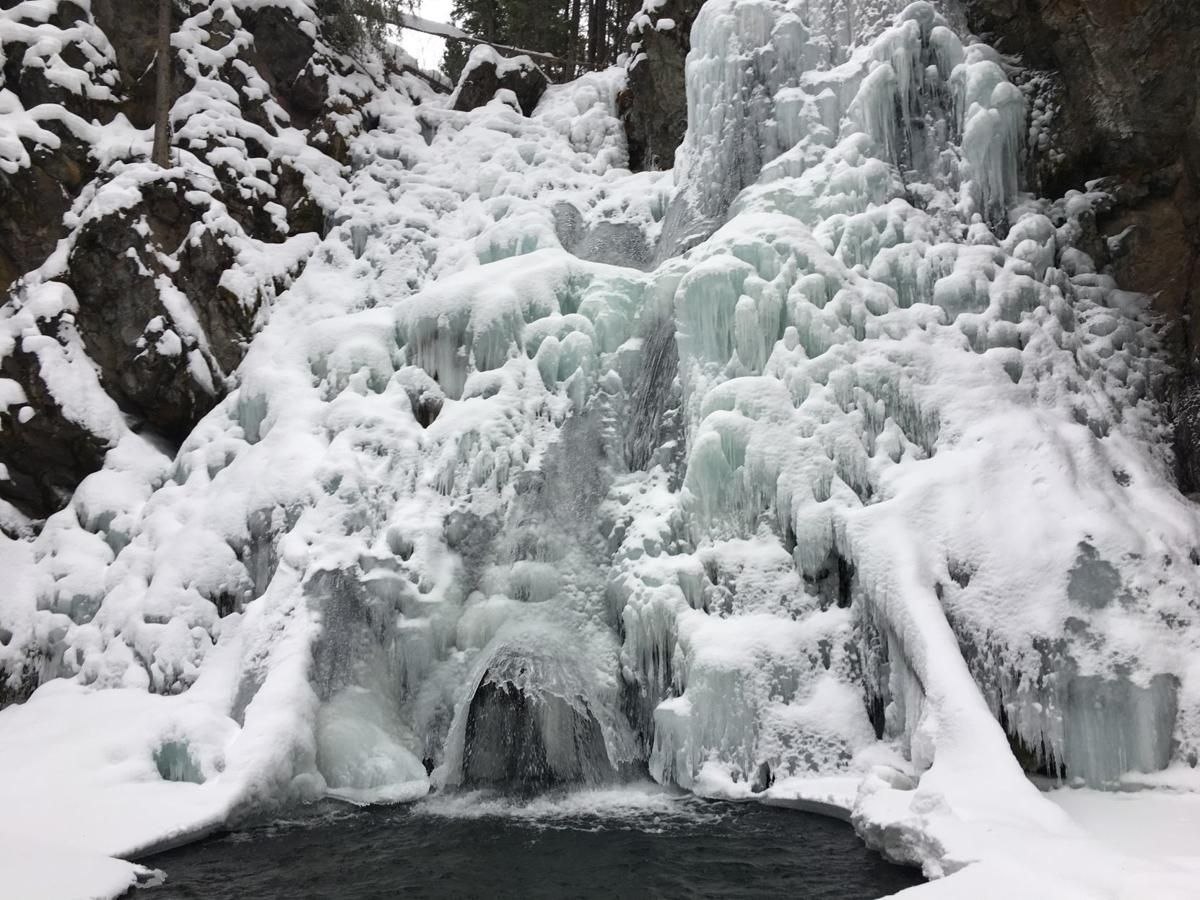 Passage Creek Falls in winter