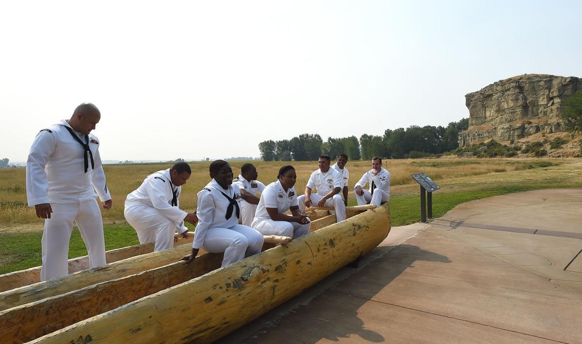 Sailors visit ship's namesake