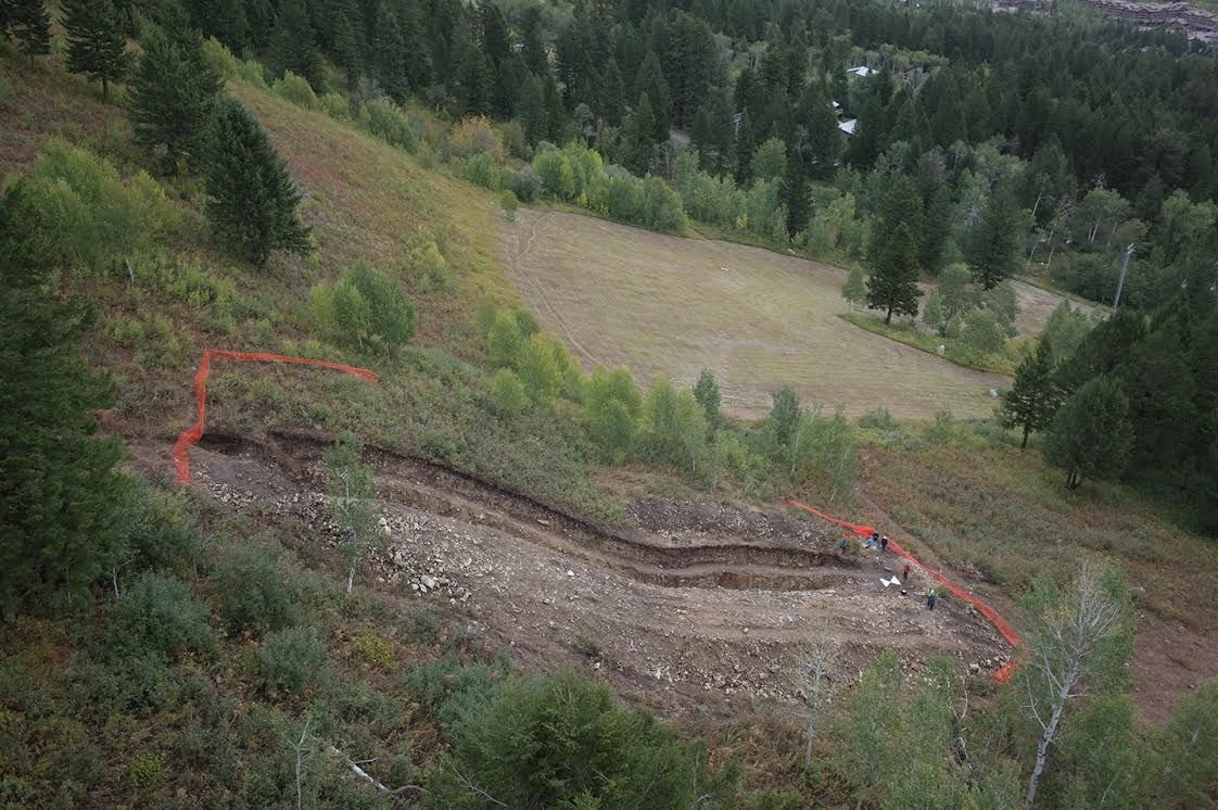 Trench across the Teton fault